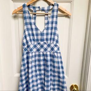 Flaying Tomato Blue & White Gingham Dress